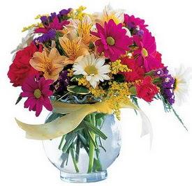 Çankırı İnternetten çiçek siparişi  cam yada mika içerisinde karisik mevsim çiçekleri