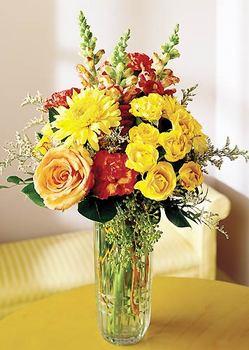 Çankırı hediye çiçek yolla  mika yada cam içerisinde karisik mevsim çiçekleri