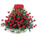 Çankırı çiçek siparişi vermek  41 adet kirmizi gülden sepet tanzimi