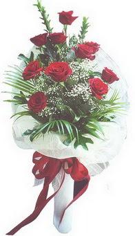 Çankırı yurtiçi ve yurtdışı çiçek siparişi  10 adet kirmizi gülden buket tanzimi özel anlara