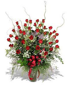 Çankırı çiçek yolla , çiçek gönder , çiçekçi   33 adet kirmizi gül vazo içerisinde