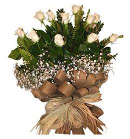 Çankırı çiçek servisi , çiçekçi adresleri  9 adet beyaz gül buketi