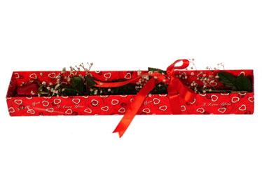 Çankırı çiçek servisi , çiçekçi adresleri  kutu içerisinde 1 adet kirmizi gül