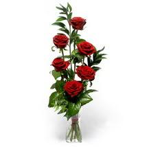 Çankırı çiçek yolla , çiçek gönder , çiçekçi   cam yada mika vazo içerisinde 6 adet kirmizi gül