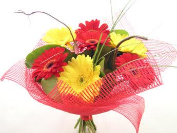 9 adet gerbera çiçeklerinden buket  Çankırı çiçek mağazası , çiçekçi adresleri