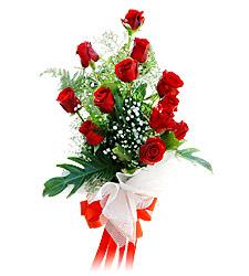 11 adet kirmizi güllerden görsel sölen buket  Çankırı çiçek gönderme