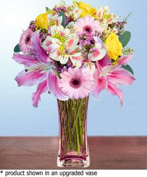 Anneme hediye karisik cam mevsim demeti  Çankırı çiçek yolla