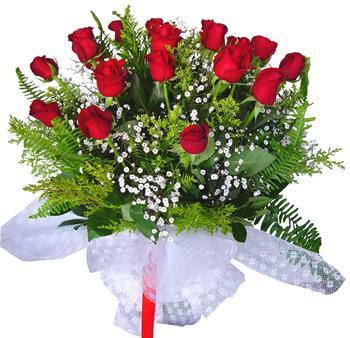 11 adet gösterisli kirmizi gül buketi  Çankırı İnternetten çiçek siparişi