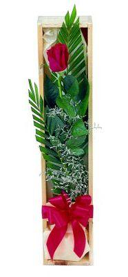 1 adet kutuda kirmizi gül  Çankırı anneler günü çiçek yolla