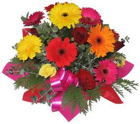 Karisik mevsim çiçeklerinden buket  Çankırı çiçek siparişi sitesi