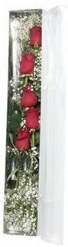 Çankırı çiçek yolla , çiçek gönder , çiçekçi    5 adet gülden kutu güller