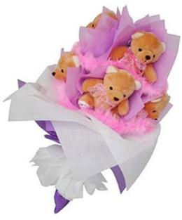 9 adet ayiciktan buket  Çankırı çiçek siparişi sitesi