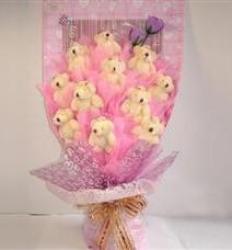 11 adet pelus ayicik buketi  Çankırı hediye sevgilime hediye çiçek