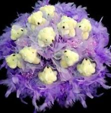 11 adet pelus ayicik buketi  Çankırı kaliteli taze ve ucuz çiçekler