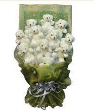 11 adet pelus ayicik buketi  Çankırı çiçekçi telefonları