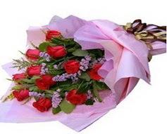 11 adet kirmizi güllerden görsel buket  Çankırı anneler günü çiçek yolla
