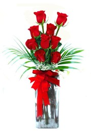 Çankırı çiçek servisi , çiçekçi adresleri  9 adet mika yada cam vazoda gül tanzimi
