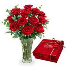 Çankırı online çiçekçi , çiçek siparişi  10 adet cam yada mika vazoda gül çikolata