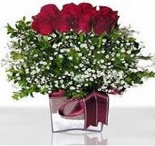 Çankırı İnternetten çiçek siparişi  mika yada cam vazo içerisinde 7 adet gül