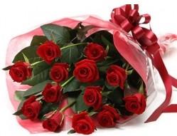 Çankırı çiçekçi mağazası  10 adet kipkirmizi güllerden buket tanzimi