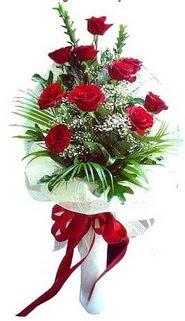 Çankırı güvenli kaliteli hızlı çiçek  10 adet kirmizi gül buketi demeti