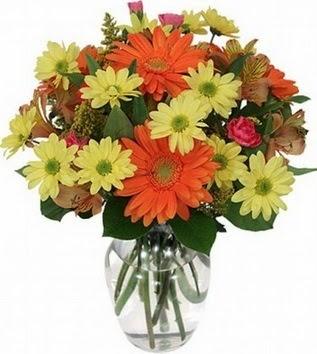 Çankırı çiçek siparişi sitesi  vazo içerisinde karışık mevsim çiçekleri