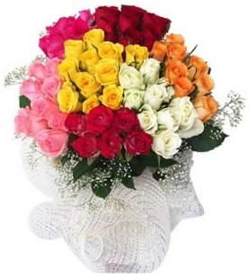 Çankırı çiçek servisi , çiçekçi adresleri  51 adet farklı renklerde gül buketi