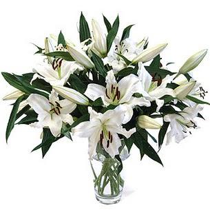 Çankırı çiçek servisi , çiçekçi adresleri  3 dal görsel casablanca vazo tanzimi