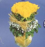 Çankırı çiçekçi mağazası  Cam vazoda 9 Sari gül