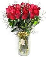 27 adet vazo içerisinde kırmızı gül  Çankırı 14 şubat sevgililer günü çiçek