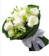 9 adet beyaz gül buketi  Çankırı çiçek yolla , çiçek gönder , çiçekçi