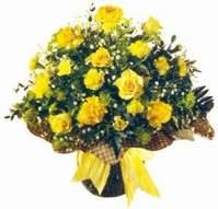 Çankırı kaliteli taze ve ucuz çiçekler  Sari gül karanfil ve kir çiçekleri