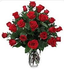 Çankırı çiçek yolla , çiçek gönder , çiçekçi   24 adet kırmızı gülden vazo tanzimi