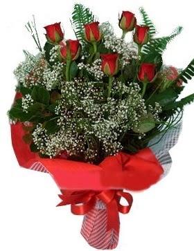 7 kırmızı gül buketi  Çankırı çiçekçiler