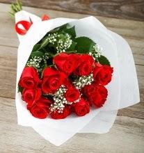9 kırmızı gülden buket çiçeği  Çankırı çiçek online çiçek siparişi