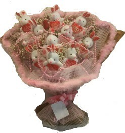 12 adet tavşan buketi  Çankırı internetten çiçek siparişi