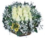 Çankırı çiçek gönderme sitemiz güvenlidir  Beyaz harika bir gül sepeti