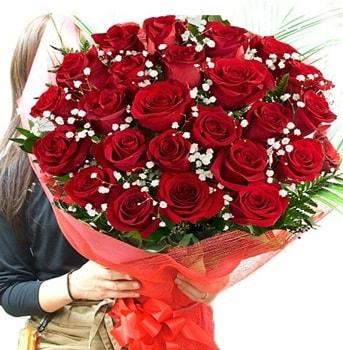 Kız isteme çiçeği buketi 33 adet kırmızı gül  Çankırı anneler günü çiçek yolla