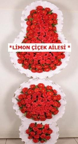 3 katlı kırmızı düğün açılış çiçeği  Çankırı çiçek online çiçek siparişi