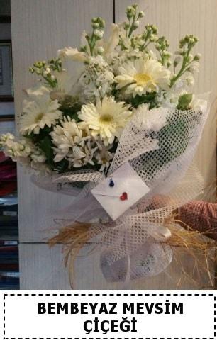 Bembeyaz görsel mevsim çiçek buketi  Çankırı hediye sevgilime hediye çiçek