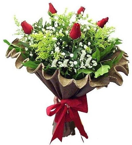 5 adet gülden buket  Çankırı anneler günü çiçek yolla