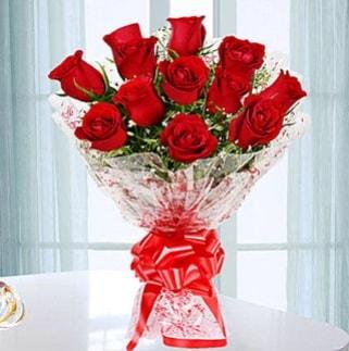 11 adet kırmızı gülden görsel şık buket  Çankırı güvenli kaliteli hızlı çiçek