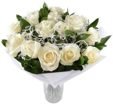 15 beyaz gül buketi sade aşk  Çankırı çiçek mağazası , çiçekçi adresleri