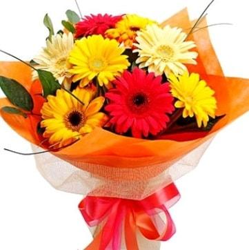 9 adet karışık gerbera buketi  Çankırı kaliteli taze ve ucuz çiçekler