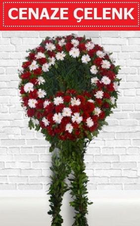 Kırmızı Beyaz Çelenk Cenaze çiçeği  Çankırı 14 şubat sevgililer günü çiçek