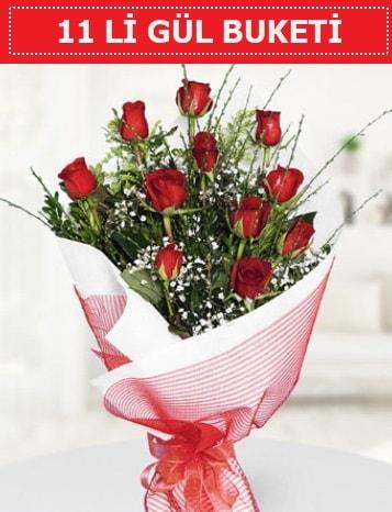 11 adet kırmızı gül buketi Aşk budur  Çankırı anneler günü çiçek yolla