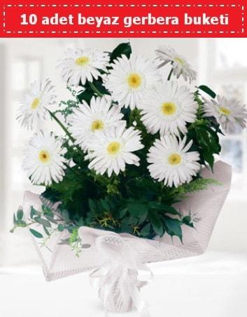 10 Adet beyaz gerbera buketi  Çankırı kaliteli taze ve ucuz çiçekler