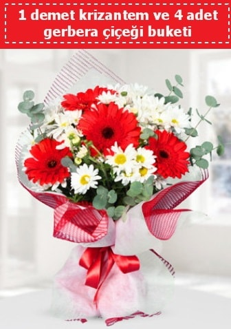 Krizantem ve Gerbera Buketi  Çankırı çiçek yolla , çiçek gönder , çiçekçi