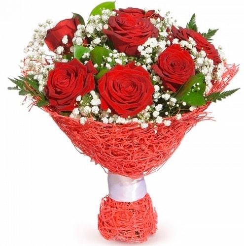 7 adet kırmızı gül buketi  Çankırı çiçek gönderme sitemiz güvenlidir